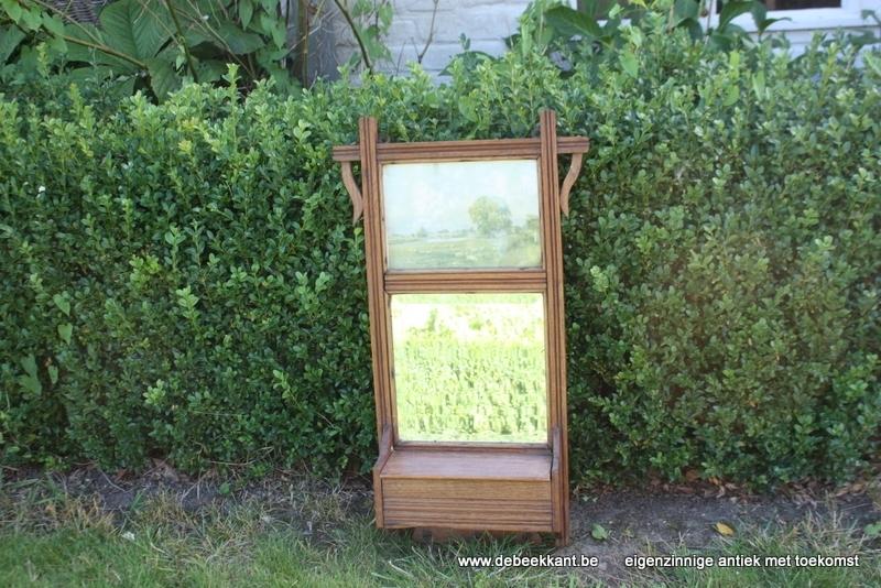 Art nouveau spiegelkastje authentieke staat