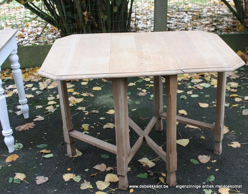 Antieke eiken tafel klaptafel opgekuist C.W.S. Cabinet Works Birmingham