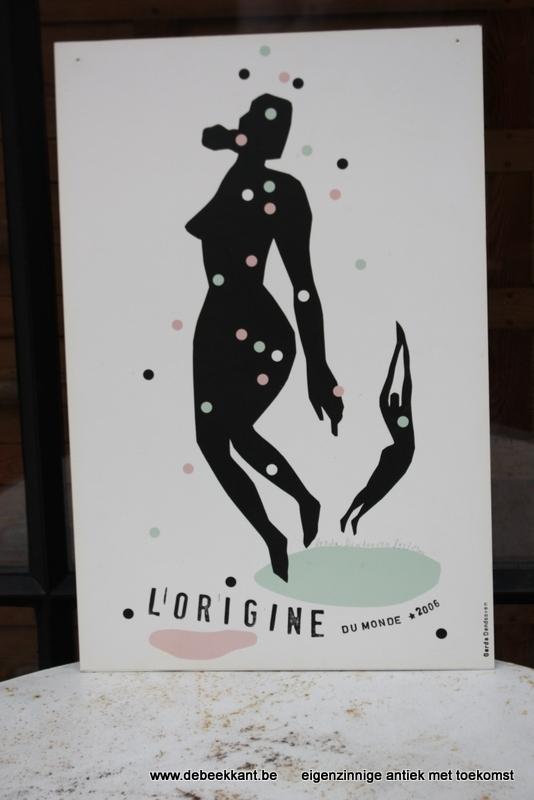 Vintage affiche karton L'origine du monde 2006. Gerda Dendooven