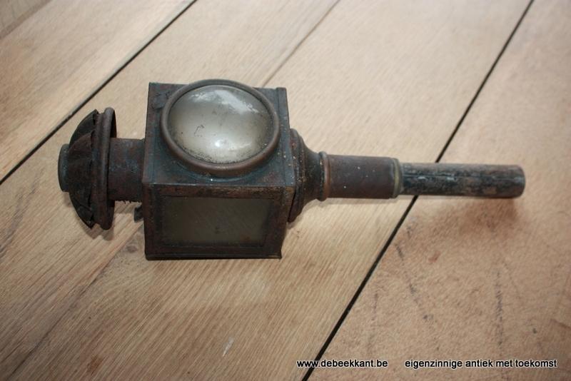 Antieke koetslamp lantaarn mooie patine