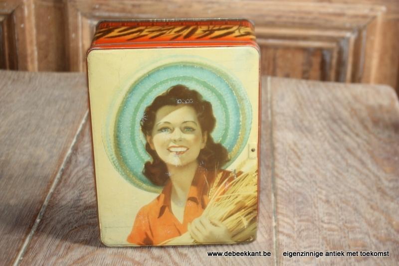 Retro vintage blikken doos Lonka