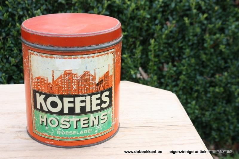 Antiek blik koffie Hostens