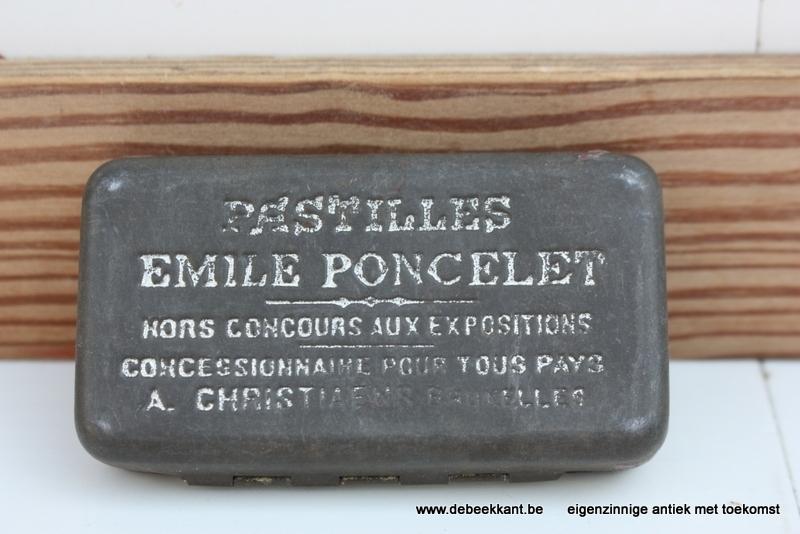 Antiek pillendoosje Pastilles Emile Poncelet