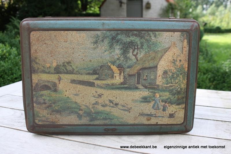 Antiek Frans blik blikken doos