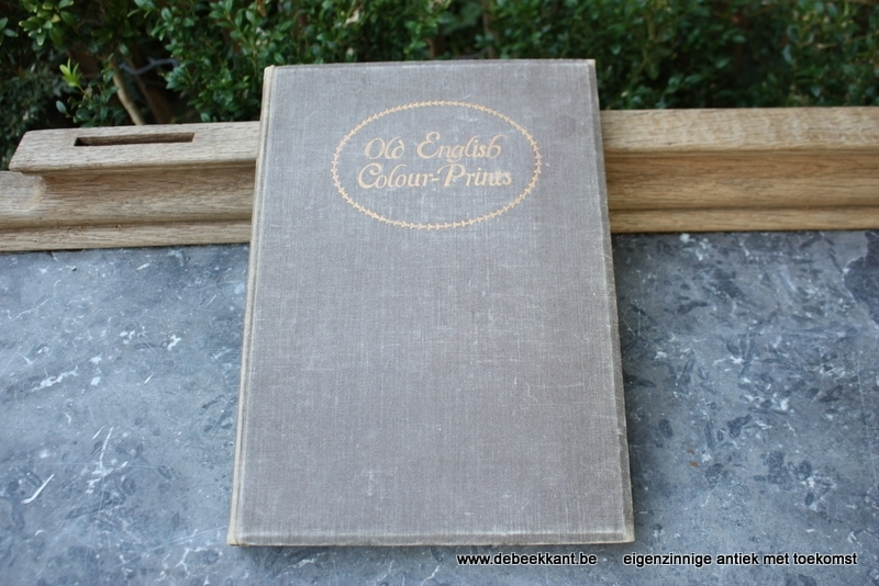 Antiek boek Old English colour prints