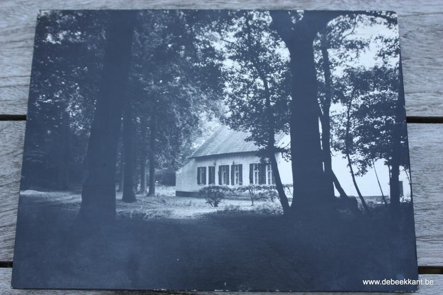 Retro zwart-wit foto hoevetje